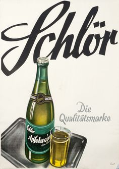 Schlor by Ernst, Otto Wine Advertising, Vintage Advertising Posters, Vintage Advertisements, Vintage Ads, Vintage Posters, Print Design, Graphic Design, Graphic Art, B Food