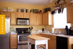 Sometimes a kitchen remodel isn't in the cards, but the universe has other plans. That's what happened to Andrew and his wife with their condo kitchen. They discovered there was water damage to the subfloor that had to be fixed, so they used the opportunity to do a budget-friendly remodel and make the kitchen more their style.   Take a look at how their surprise $2500 renovation turned out!