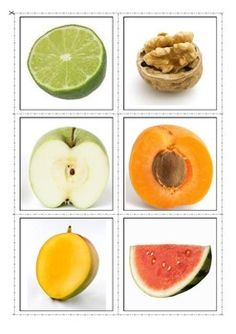 Fruit Inside & Out Matching Activity. Autism & Special Needs Fruit And Veg, Fruits And Vegetables, Autism Activities, Activities For Kids, Dog Eating, Food Themes, Group Meals, Kids Education, Shangri La