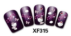 Hello Kitty Nail Art Stickers DIY Nail Decals 37PCS! FREE SHIPPING! by BeckysCornerShop on Etsy