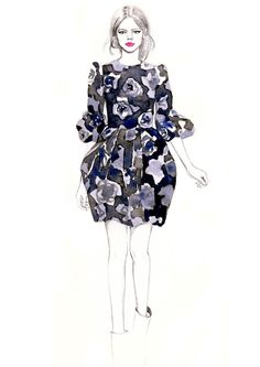 lanvin high fashion illustration