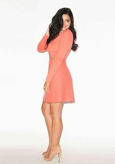 ariel-winter-new-2015-coral-dress