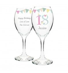 Birthday Craft Wine Glass | Glassware | Exclusively Personal