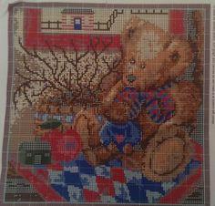 "Old Teddies Rug Teddy Bear Latch Hook Kit Anna Krajewski design 36"" x 36"" $69.99"