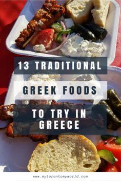 Greek Foods to try in Greece #greecetravel