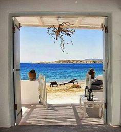 Idyllic beach view