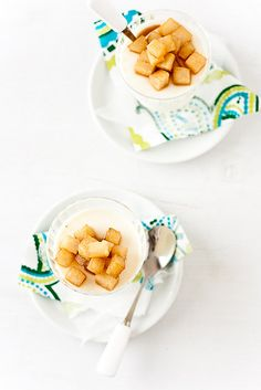 Caramelized Pear Panna Cotta by tartelette, via Flickr