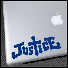 cool Justice Edm Dance Music Vinyl Decal Sticker