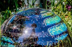 Reflections of Seattle Space Needle