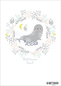 Last in my Frozen North Series Northern Seal by Bettyjoydesignstudio