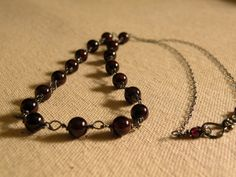 Garnet Wirewrapped Oxidized Pendant by ScorpionMoonDesigns on Etsy, $82.00