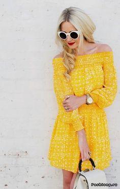 Платье цвета солнца