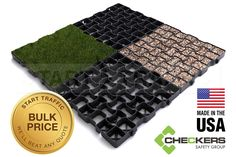 Made in the USA. GeoGrid is a permeable eco-friendly stabilization paving system for grass and gravel. It can be used for permanent or temporary installations. GeoGrid is a very strong plastic paver and a superior alternative to concrete cellular pavers.
