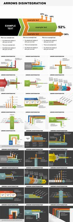 Arrows Disintegration PowerPoint diagrams