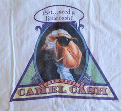 1991 Vintage Joe Camel T-Shirt Camel Cash Pyramid George Washington Large 42-44 #Camel #GraphicTee