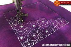 The Free Motion Quilting Project: How to Machine Quilt Vertigo, Design #490