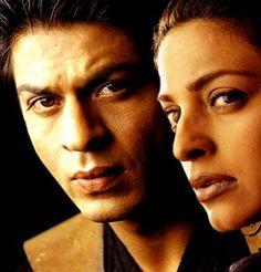 Shah Rukh as Arun Verma, Juhi Chawla as Geeta Choudhary, and Jackie Shroff as Javed Abbas.
