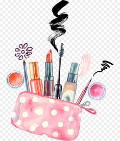 Kosmetik Aquarell Maskenbildner Zeichnung Vektor Handgemalte Make-up Makeup Drawing, Brush Drawing, Makeup Art, Pink Makeup, Food Drawing, Beauty Makeup, Watercolor Brushes, Watercolor Paintings, Watercolor Ideas