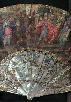 Eventail XVIIIème siècle- Salomon et la reine de Saba (détail)