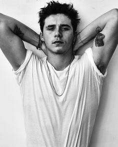 """Hi My name is Damon and I would like to comment on the recent controversy surrounding my pictures with Brooklyn Beckham. I decided to shoot Brooklyn in a black and white portrait series, in a few of the shots he is photographed with a prop gun. I feel that this creative moment was unfairly seized and exploited to fit the narrative of """"Brooklyn Beckham promotes gun violence."""" It is a sad but true fact of the current world we live in that guns are everywhere. They are in every other Hollywood…"""