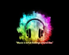 Music is what feelings sound like. Sound Of Music, Music Is Life, Good Music, Edm Quotes, Music Quotes, Music Pics, Art Music, Music Logo, Dj Business Cards