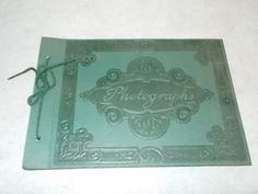 vintage Photo Album - Scrap Book w Black Paper Pages Never Used - Estate Listing