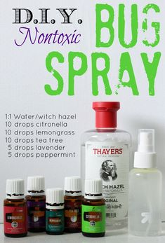 This DIY bug spray is easy to make, smells great and actually works! #essentialcampingtips