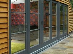 If we can't have metal... FD Contemporary-style-timber-French-doors-in-Urbane-grey