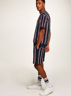 Red And Blue Stripe Sweatshirt #ad #men #fashion #shopping #outfit #inspiration #style #streetstyle #fall #winter #spring #summer #clothes #accessories