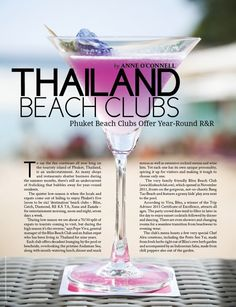 Thailand Beach Clubs: Phuket : Global Living Magazine www.globallivingmagazine.com