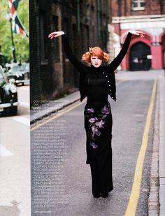 UK Vogue September 1997 Round the Clock Ph: Arthur Elgort Model: Karen Elson