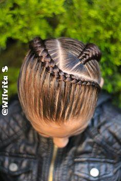 Peinados Two Braid Hairstyles, Lil Girl Hairstyles, Natural Hairstyles For Kids, Natural Hair Styles, Long Hair Styles, Barbie Hairstyle, Girl Hair Dos, Braids For Black Hair, Hair Affair