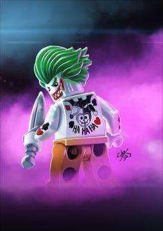 Joker showing off his new ink.