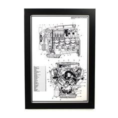 Mercedes-Benz V8 Engine Print