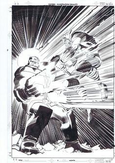 Thanos vs. Thor by John Romita Jr.