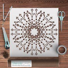Amazing Mandala- Style Stencil For Decoration