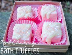 DIY Pink Champagne Bath Truffles http://thecountrychickblog.com/2015/09/diy-bath-truffles/