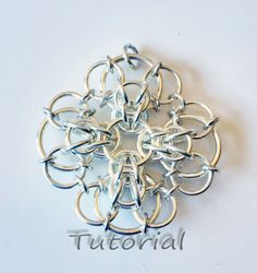 2nd Tutorial!!! :-) Celtic Chrysanthemum Chainmaille Pendant by FlutterbyKissis, $6.95