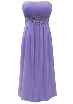 Fiesta Formals Short Flowing Chiffon Formal Evening Gown Bridesmaids Prom Dress - Lavender - XS