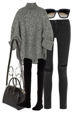 #winter #outfits / oversized sweater + skinny jeans