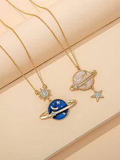 Colar Fashion, Fashion Necklace, Fashion Jewelry, Kawaii Accessories, Jewelry Accessories, Jewelry Design, Stylish Jewelry, Cute Jewelry, Charm Jewelry