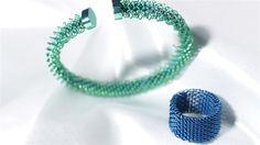 bracciale e anello in titanio colorato completamente anallergici