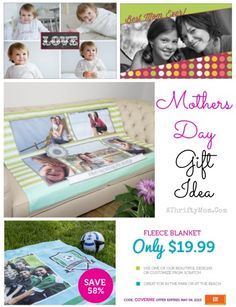 Mothers Day Gift Idea custom photo blanket, gift ideas for moms, online photo code