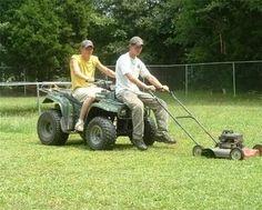 Recheck Riding Mower - 15 Hilarious Redneck Inventions (funny redneck) - ODDEE Redneck Humor, Redneck Quotes, Redneck Games, Rednecks, Thats The Way, Country Girls, Country Life, Country Quotes, Country Living