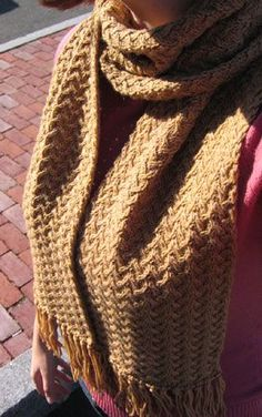 Shifting Sands scarf by Grumperina.  I love this pattern and I'm making it for myself using Malabrigo Rios yarn in Sunset.  Can't wait to see the finished product.