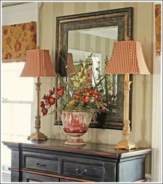 Dining Room Buffet Accessorizing, I found this gorgeous black buffet in Franklin, Tn.  I love a little black in every room.  Here are a few photos of how I decorated it.  For more decorating ideas visit http://www.decorating-ideas-made-easy.com, This is a black buffet I found in Franklin, TN.  I love the distressed look!, Dining Rooms Design