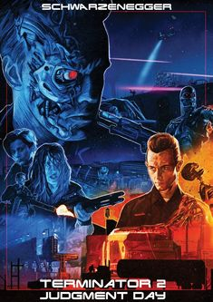 "BROTHERTEDD.COM - Ryan Crosby ""Terminator 2: Judgment Day"" Print Classic Movies, Movie Posters, Film Poster, Popcorn Posters, Film Posters, Posters"