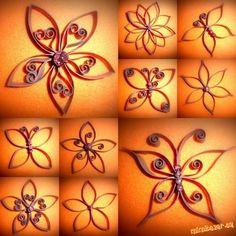 Kvietky a motýle z WC rolky
