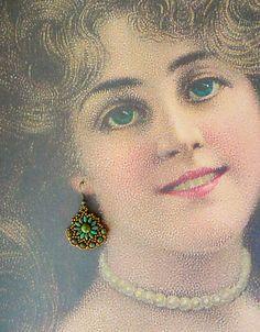 Dana's Gypsy Earrings - Antique Silver & Mauve