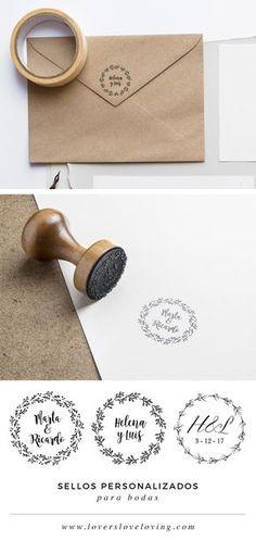 Sellos Personalizados Para Bodas - HAZ CLIC aquí para encontrar vuestro Diseño Ideal en https://www.loversloveloving.com/shop/?product_cat=sellos-de-boda